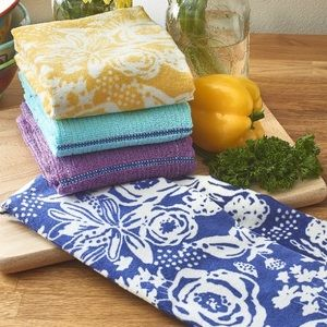 4 New Pioneer Woman Kitchen Towels 100% Cotton